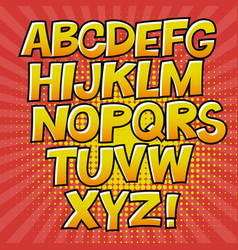 Comic alphabet and speech bubble element halftone vector