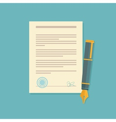 Contract sign vector
