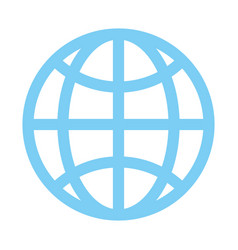 Earth globe diagram communication icon image vector