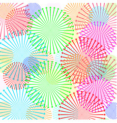 fireworks and stars colors isolated vector image