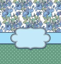 frameflowers vector image vector image