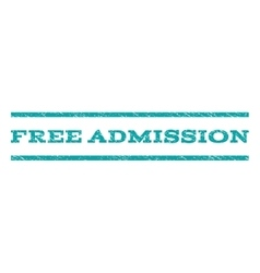 Free admission watermark stamp vector