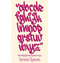 Graffiti alphabet - handwritten - lowercase vector