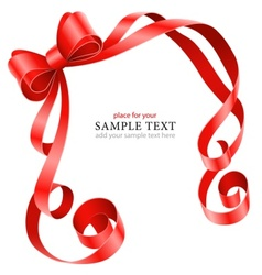 greeting card template with vector image vector image