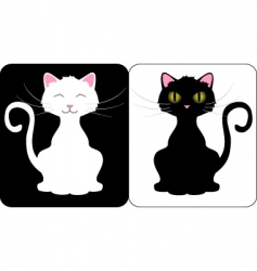 happy cats vector image vector image