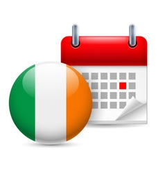 Icon of national day in ireland vector image vector image