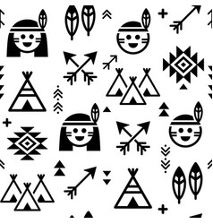 indian seamless pattern for boys and girls vector image