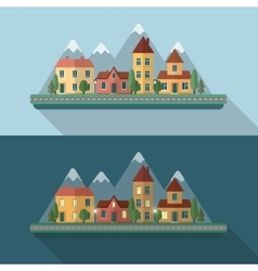 Little city street vector image