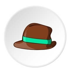 Mens hat icon cartoon style vector