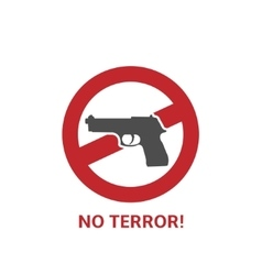No terror icon vector