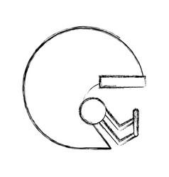 Sketch draw football helmet cartoon vector
