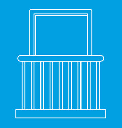 Small balcony with window icon outline style vector