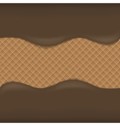 Wafer chocolate background vector image vector image