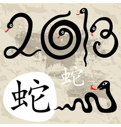 Year of the Snake 2013 vector image vector image