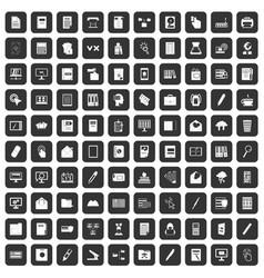 100 folder icons set black vector