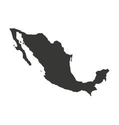 Mexico map geography icon vector