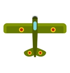 Army biplane icon flat style vector