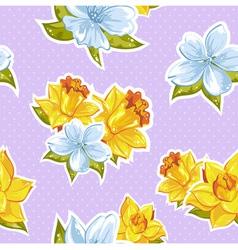 Elegant stylish spring floral seamless pattern vector image