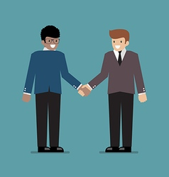 Business people shaking hands during a meeting vector