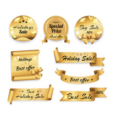 Holidays big best sale and special prices banner vector