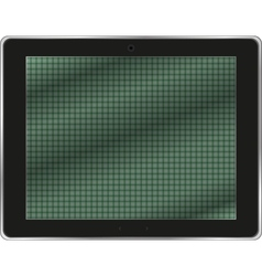 Realistic tablet pc computer isolated on white vector