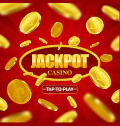 Jackpot casino online background design vector