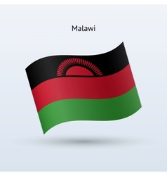 Malawi flag waving form vector