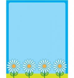 daisy border frame vector image