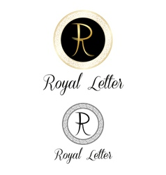 Royal letters logo vector image