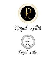 Royal letters logo vector image