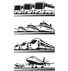 Passenger transportation vehicles vector