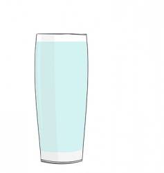 realistic illustration glass with water vector image