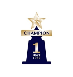 Champions cup award trophy winner vector