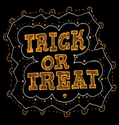 Trick or treat halloween hand drawn poster design vector