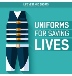 Uniform for saving lives icon vector