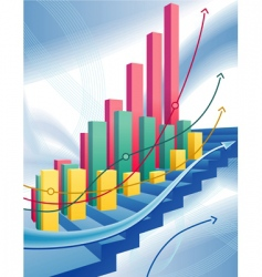 abstract business graph vector image