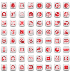 big clock icons set vector image vector image