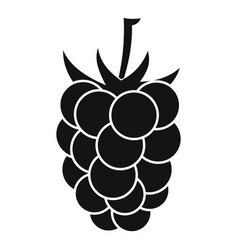 Blackberry fruit icon simple style vector