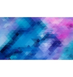 Blue Abstract triangle background vector image vector image