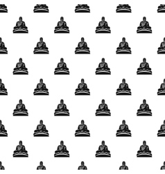 Buddha statue pattern simple style vector