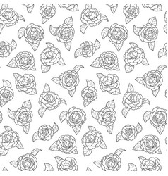 Camellia seamless pattern vector