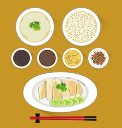 chicken rice vector image vector image