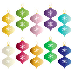 Colorful gradient christmas ornaments vector