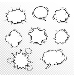 comic speech bubbles set with different shapes vector image vector image