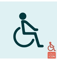 Disabled icon isolated vector