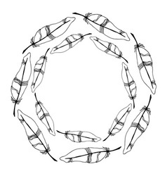 Feather wreath vector