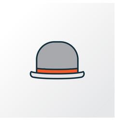 Fedora colorful outline symbol premium quality vector