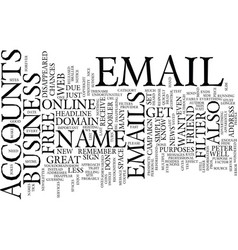 Free email accounts pros and cons text background vector