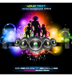 Girls night disco vector