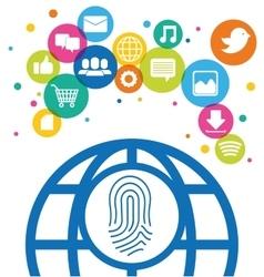 Global communication identification social media vector